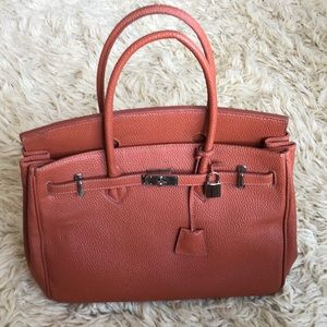 Handbags - Orange birkin copy